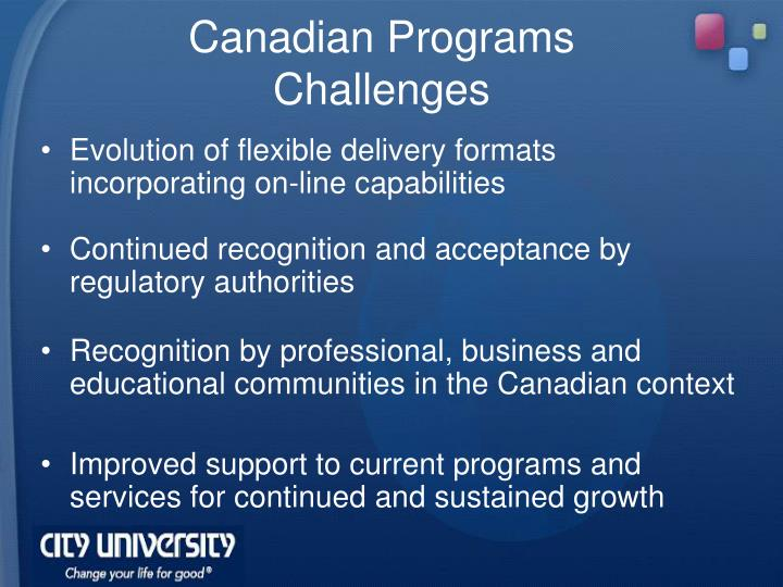 Canadian Programs