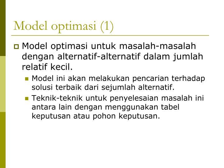 Model optimasi (1)