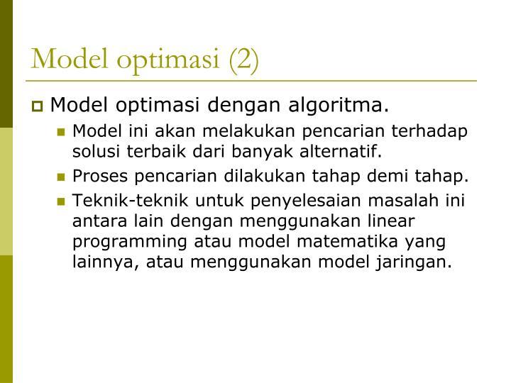 Model optimasi (2)
