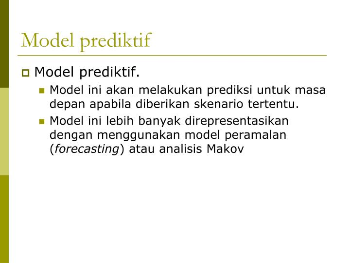 Model prediktif