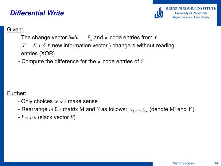 Differential Write