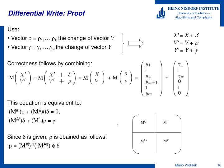 Differential Write: Proof