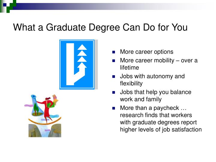 What a Graduate Degree Can Do for You