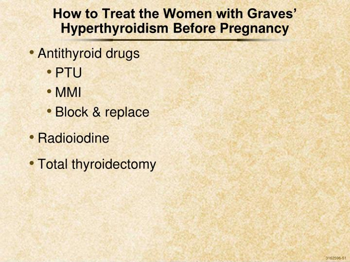How to Treat the Women with Graves' Hyperthyroidism Before Pregnancy