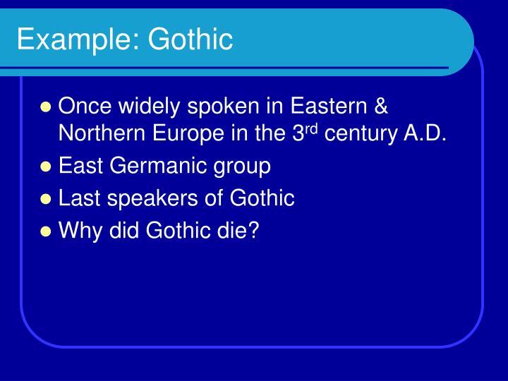 Example gothic