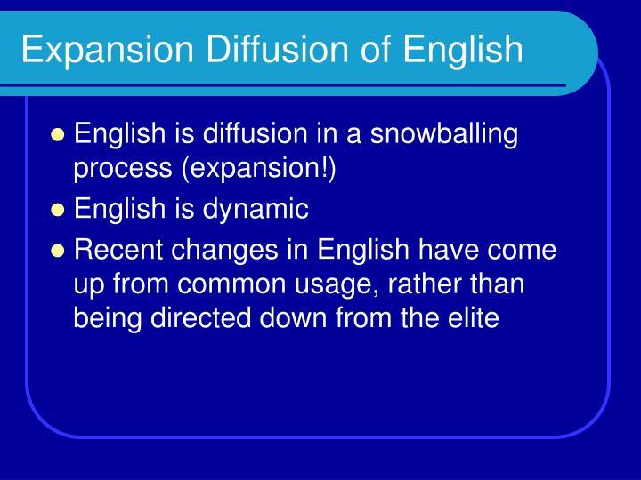 Expansion Diffusion of English