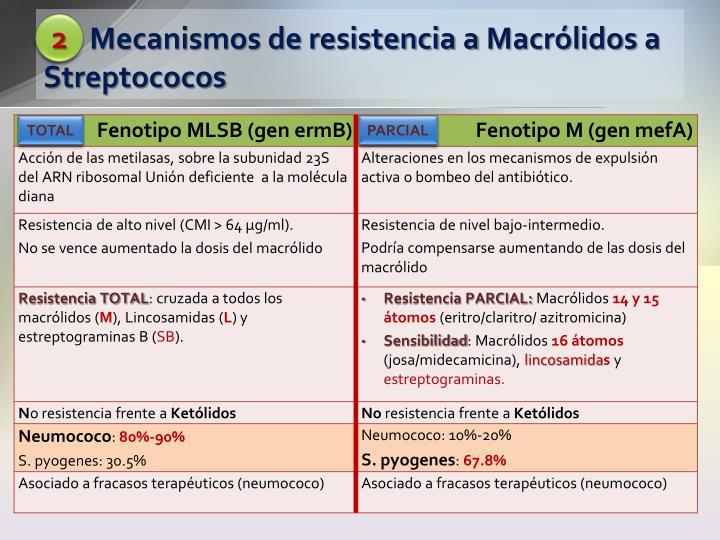 Mecanismos de resistencia a