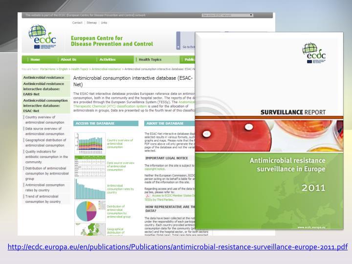 Http://ecdc.europa.eu/en/publications/Publications/antimicrobial-resistance-surveillance-europe-2011...