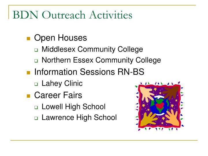 BDN Outreach Activities