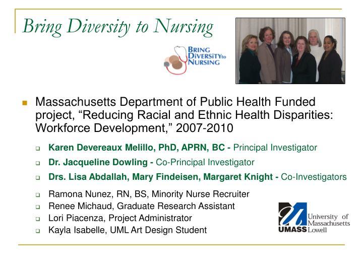 Bring Diversity to Nursing