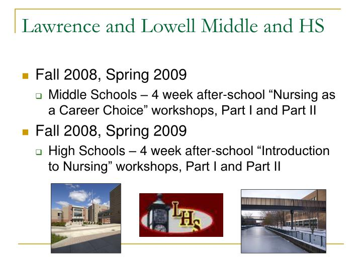 Lawrence and Lowell Middle and HS
