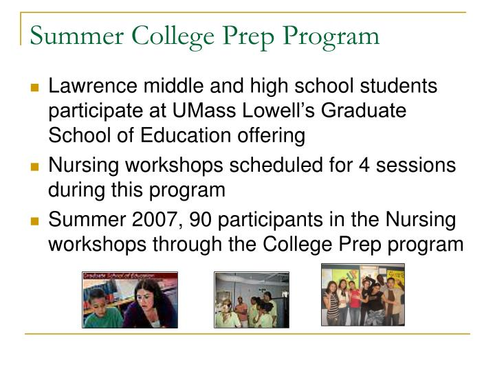 Summer College Prep Program