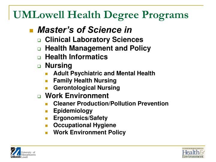 Umlowell health degree programs1