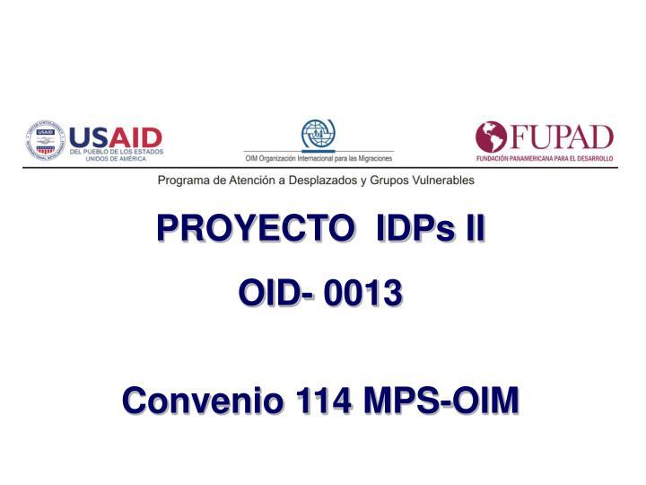PROYECTO  IDPs