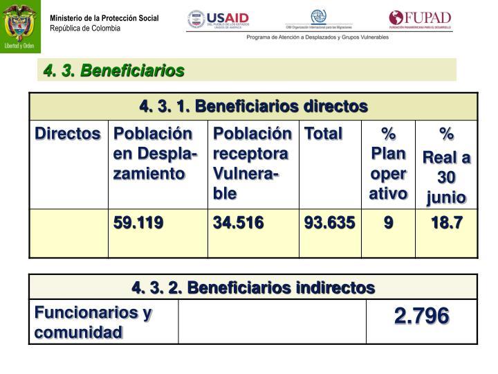 4. 3. Beneficiarios