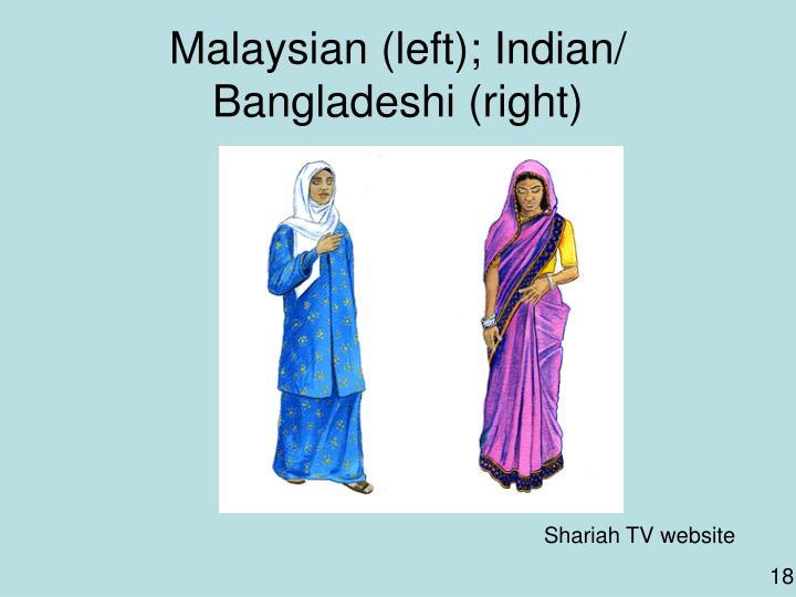 Malaysian (left); Indian/