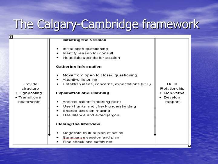 The Calgary-Cambridge framework