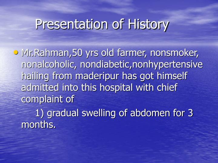 Presentation of history1