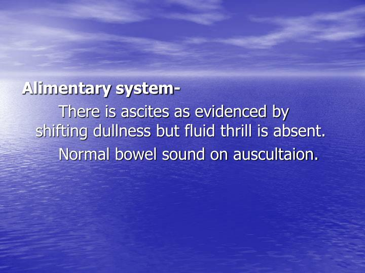 Alimentary system-