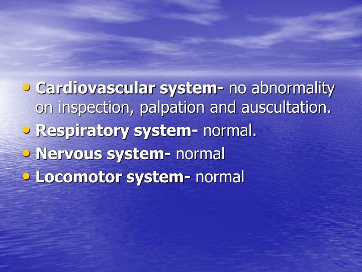 Cardiovascular system-