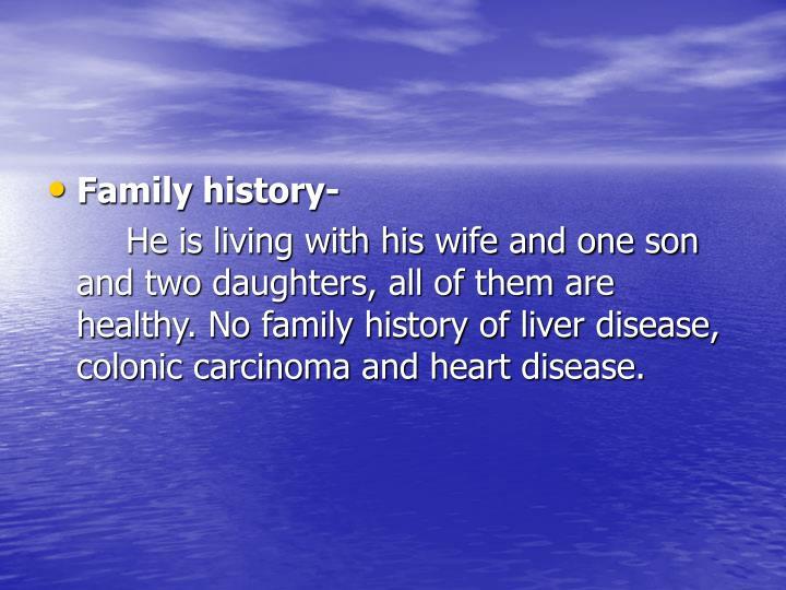 Family history-