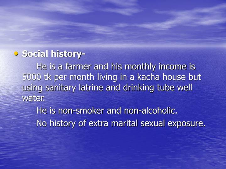 Social history-