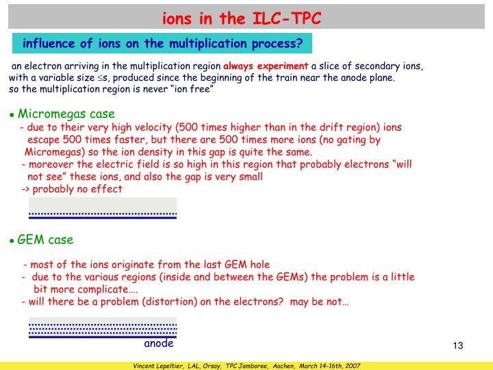 ions in the ILC-TPC