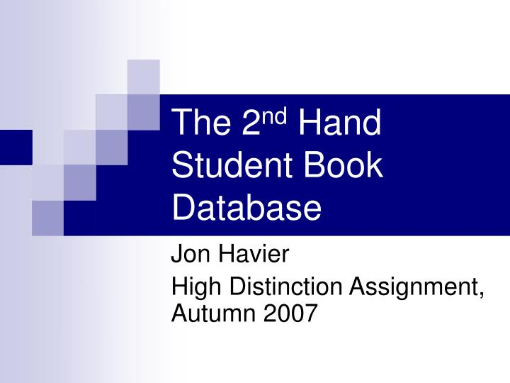 The 2 nd hand student book database