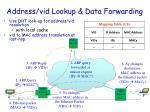 address vid lookup data forwarding