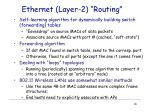 ethernet layer 2 routing