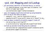 pid vid mapping and vid lookup