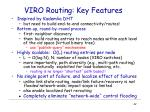 viro routing key features