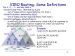 viro routing some definitions