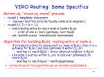 viro routing some specifics