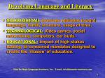 devolving language and literacy