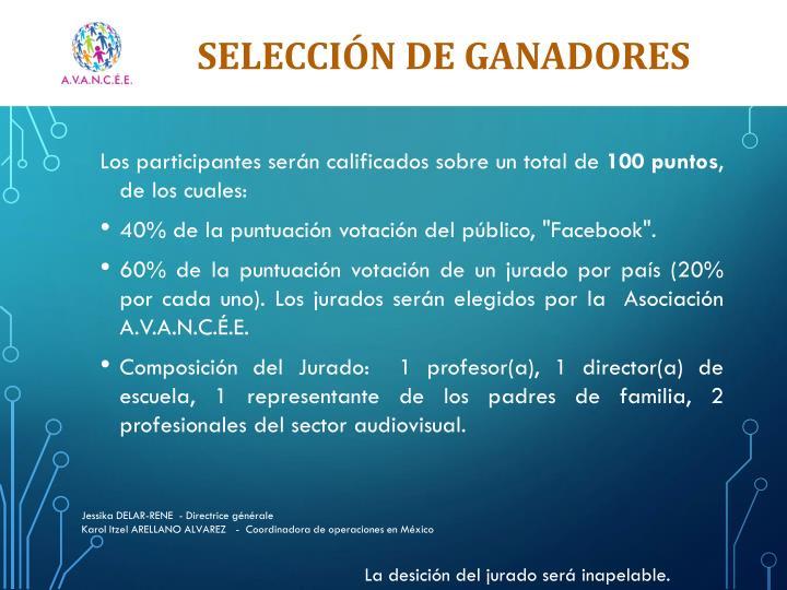 SELECCIÓN DE GANADORES
