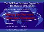 the full text database system for the minutes of the diet1