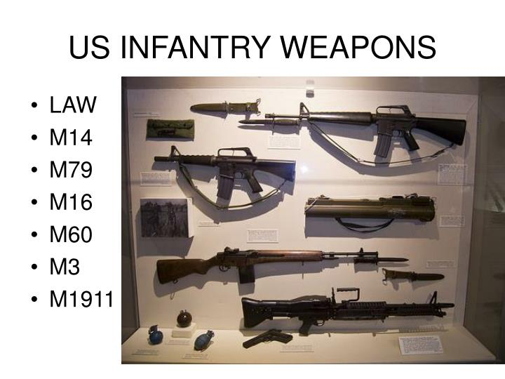 US INFANTRY WEAPONS
