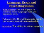 language error and psycholinguistics