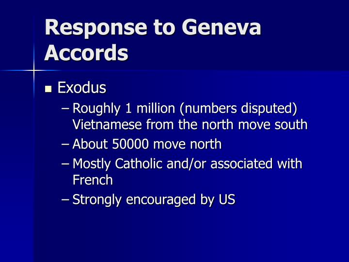 Response to geneva accords