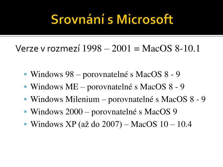 Srovnání s Microsoft