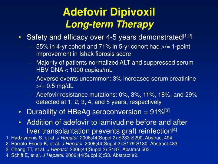 Adefovir dipivoxil long term therapy