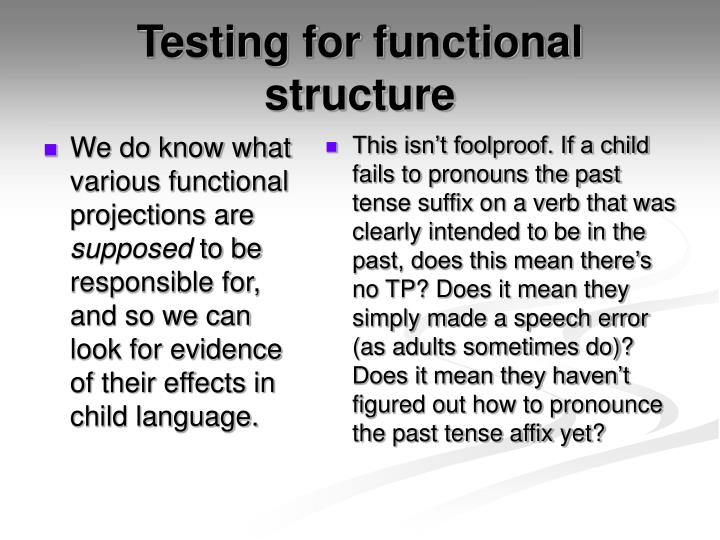 We do know what various functional projections are