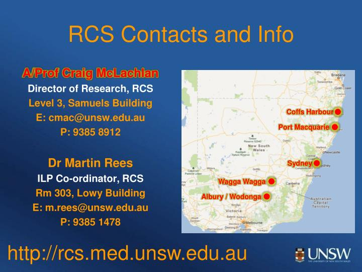 RCS Contacts and Info