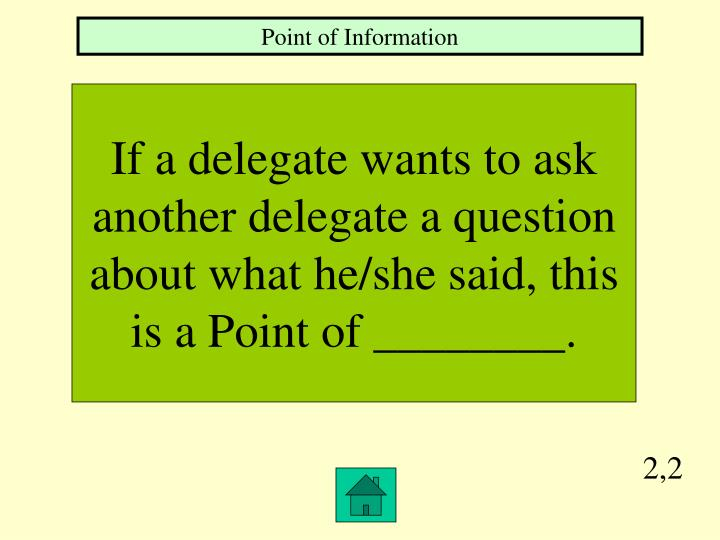 Point of Information