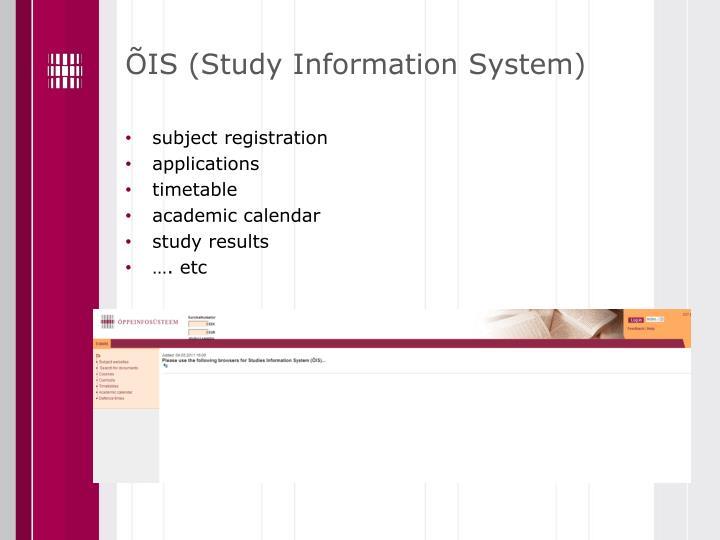 ÕIS (Study