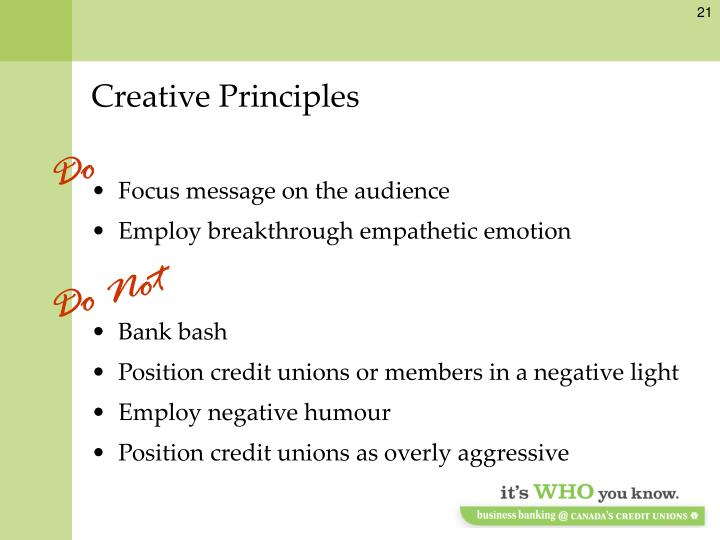 Creative Principles