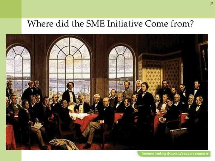 Where did the sme initiative come from