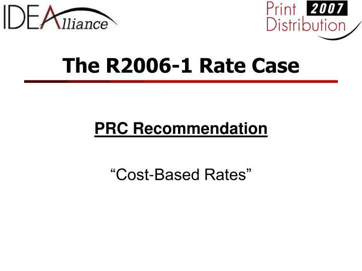 the r2006 1 rate case