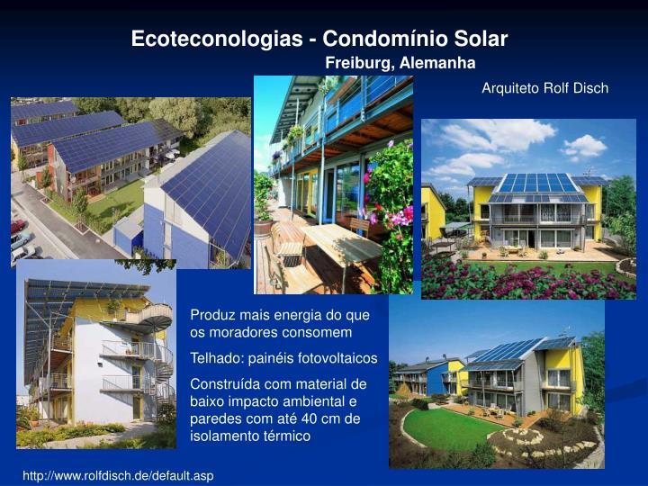 Ecoteconologias - Condomínio Solar